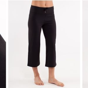 Lululemon Relaxed Fit Black Crops Made in Canada